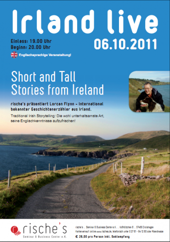 "Lorcan Flynn aus Irland präsentiert englisches Storytelling ""Short and Tall Stories from Ireland"""