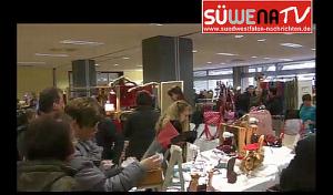 Siegen: Kunsthandwerkermarkt Siegerlandhalle Impressionen (Video)