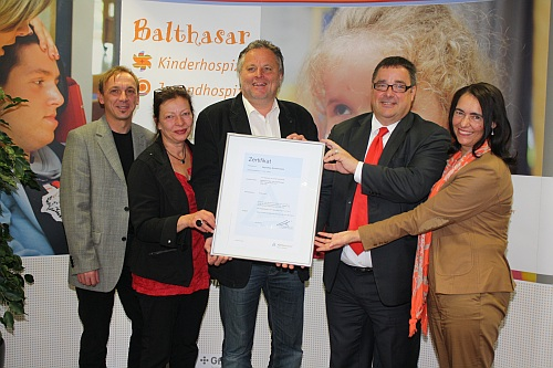 Große Freude beim Kinderhospiz Balthasar in Olpe. Foto: Andrea Schreiber