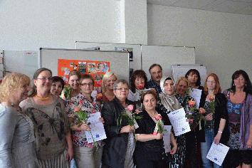 """Photo of Zertifikatsvergabe mit Gütesiegel für """"Qualifizierung in der  Kindertagespflege"""""""