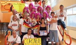 Coronette Dancers bei Europameisterschaften