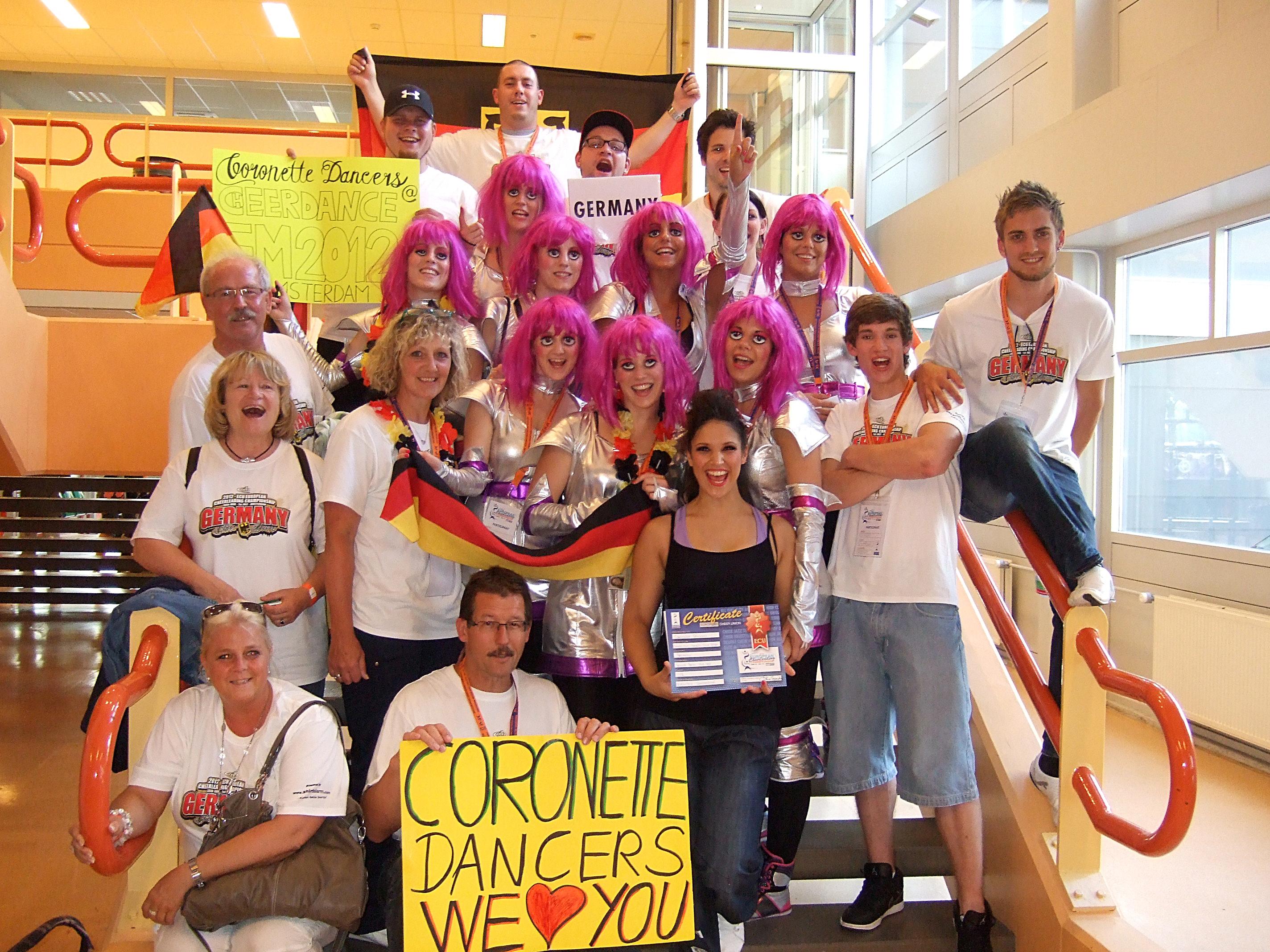 Photo of Coronette Dancers bei Europameisterschaften