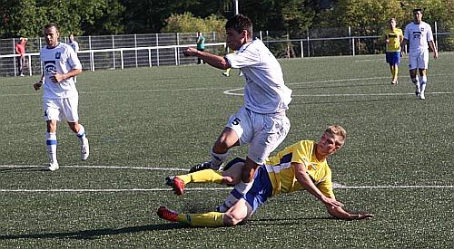 Arbeitssieg beim SV Hützemert: Am Ende lohne sich der Einsatz von Philippe Zart.