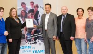Creditreform Hagen ist ausgezeichneter  Ausbildungsbetrieb 2013