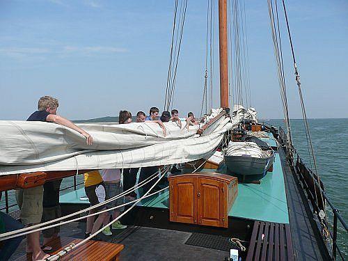 "Foto: An Bord der Segelschiff ""Aldebaran"""