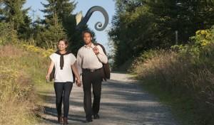 WaldSkulpturenWeg: Taxi für Wanderer
