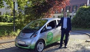Kreisverwaltung testet Elektrofahrzeug