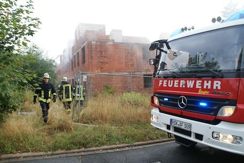 Photo of Brand in Bauruine schnell gelöscht