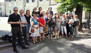 "Projekt ""Guide4Blind"": Schul-Kollegium testet den Cityguide"