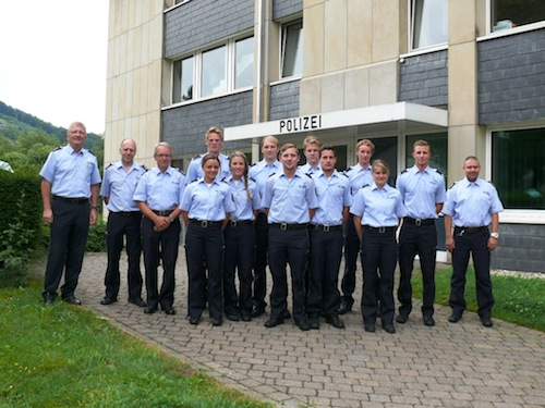 Photo of Kreispolizeibehörde begrüßt Praktikanten