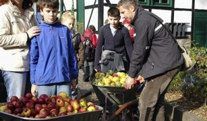 Obst auf Rädern: Mobile Apfelpresse in Barendorf
