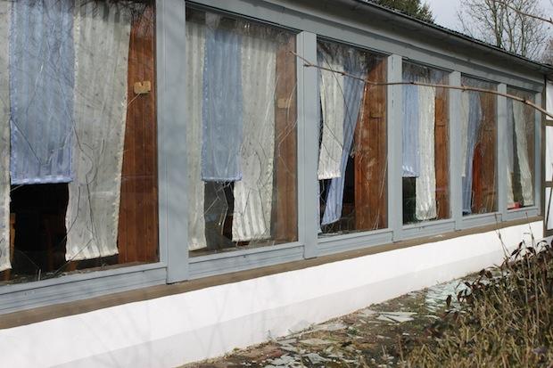 Photo of Fensterscheiben an Vereinsheim eingeschlagen