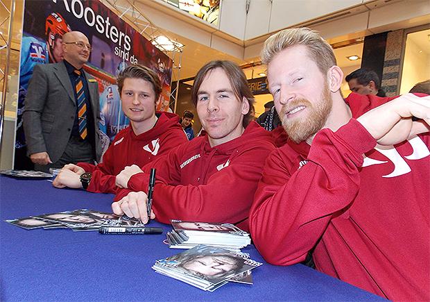 Dieter Orendorz, Collin Danielsmeier, Lasse Kopitz ( v.l.)