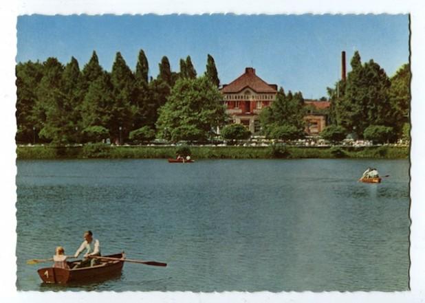 Eine Postkarte vom Seilersee, um 1960 (Foto: Stadtarchiv Iserlohn).