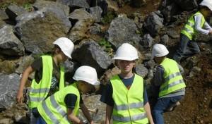 Fossilien- und Mineraliensuche für Kinder