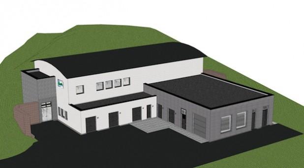 02.)Die Skizze gibt einen Eindruck davon, wie das künftige Wasserwerk Hennesee einmal aussehen soll (Quelle: Hochsauerlandwasser GmbH).