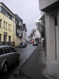 Die aktuelle Verkehrssituation in der Ennester Straße (Foto: Hansestadt Attendorn).