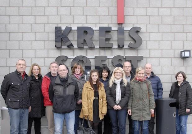 Das Jobcenter Soest besuchte mit 12 Teilnehmerinnen und Teilnehmern das Rettungszentrum (Foto: Franca Großevollmer/Kreis Soest).