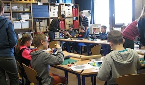 Fragen und Antworten beim Besuch des Schülerlabors der Uni Siegen