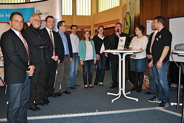 Das Veranstalterteam zusammen mit Bürgermeister Erhard Pierlings (am Mikrofon) - Fotos: Sven Oliver Rüsche