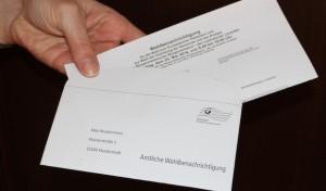 Wahlbenachrichtigungen für die Europa- und Kommunalwahlen