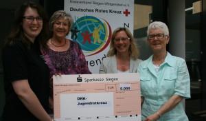 5.000 Euro für Jugendrotkreuz Siegen-Wittgenstein
