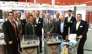 Regionale Firmen knüpfen auf Maschinenbau-Messe Kontakte