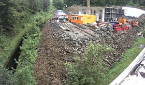 Webcam zeigt HSW-Großprojekt unterhalb des Hennesees