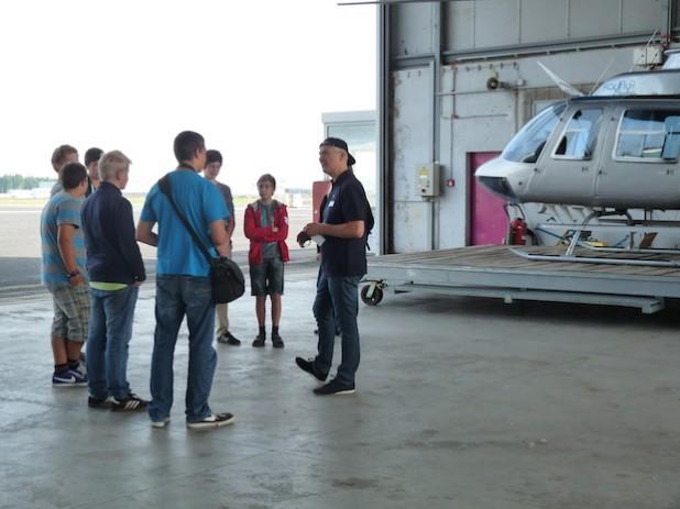 Highlight im letzten Jahr: Der Besuch der Helikopterflugschule kayfly am Siegerland-Flughafen (Foto: KM:SI GmbH).