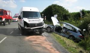 Ense-Bremen: Unfall bei Wendemanöver
