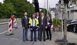 Bau der Lennepromenade beginnt mit Sanierung der Stützwand am Lennedamm