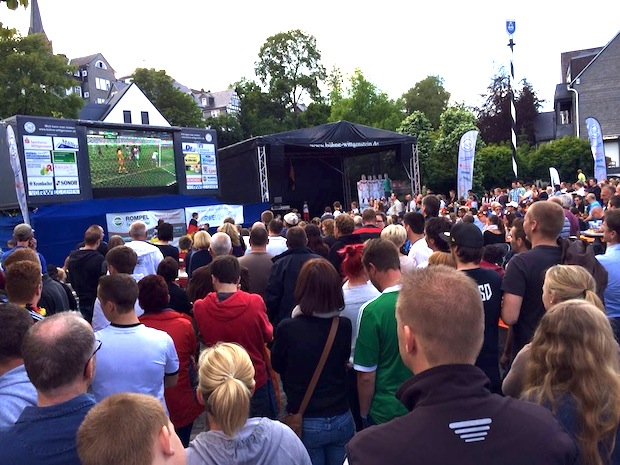 Photo of Public Viewing: Odeborn-Arena vor Regenfront gewappnet