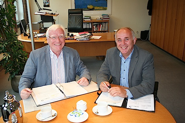 Bürgermeister Peter Wessel und Werner Lohn MdL (von links) - Quelle: Stadt Erwitte