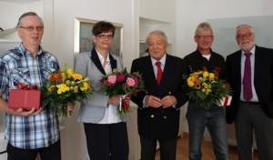 Hans Werner Kocherscheidt dankt langjährigen Mitarbeitern