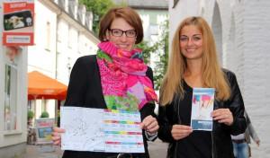 Attraktiver Gutscheincoupon-Flyer mit Stadtplan