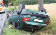 Anröchte-Effeln: Fahrzeug überschlug sich