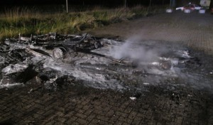 Wohnwagen in Werl ausgebrannt