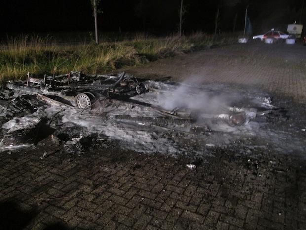 Photo of Wohnwagen in Werl ausgebrannt