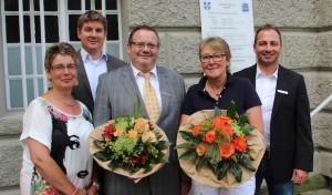 Eva Schulte-Döinghaus und Hans Tillmann feiern ihr 40-jähriges Dienstjubiläum