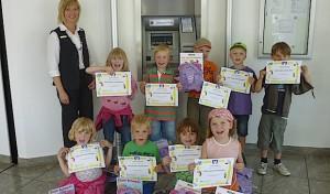 Geldforscherdiplom für Vorschulkinder