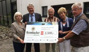 """VergissMeinNicht"": Krombacher spendet 2.500 Euro"