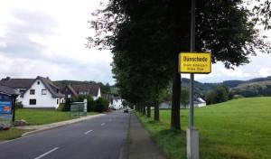 Verkehrsbehinderungen in Attendorn-Dünschede