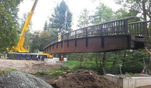 Bigge: Fußgängerbrücke über die  Ruhr zwei Wochen gesperrt