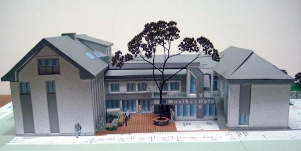 Ein Modell des Gebäudes nach dem Umbau (Foto: Pressestelle Hochsauerlandkreis).