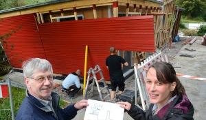 Bibertal: Bau des Waldschiffes schreitet voran