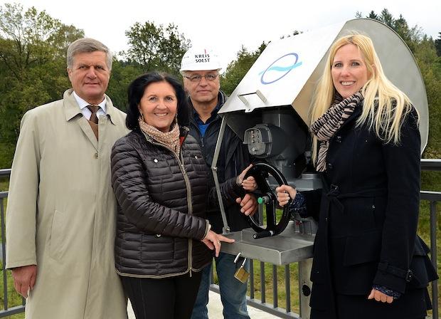 Photo of Hochwasserrückhaltebecken eingeweiht und umgetauft