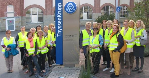 LUNA - zu Gast beim führenden Hersteller von Großwälzlagern (Foto: Stadt Lippstadt)