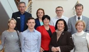 Fünf polnische Hospitanten im Kreishaus