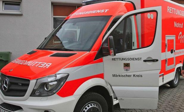 Immer häufiger im Einsatz - die Rettungstransportwagen des Märkischen Kreises (Foto: Hendrik Klein/Märkischer Kreis).