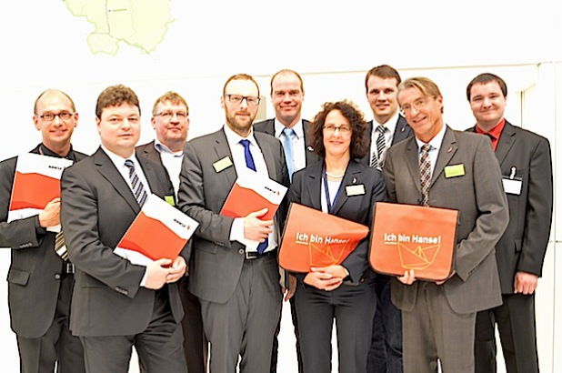 Treffen des Wirtschaftsbunds HANSE während der Expo Real mit WFL-Geschäftsführer Dr. Ingo Lübben (4. v.l.) und Prokurist Holger Gebauer (2. v.l.) - Foto: Stadt Lippstadt